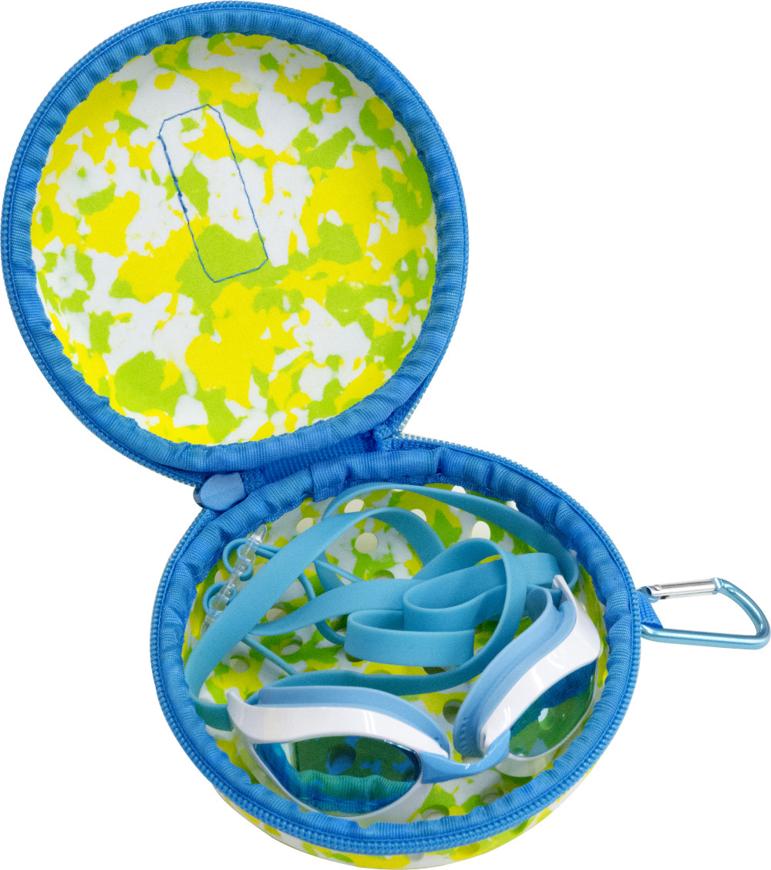 Picture of Rundes Schwimmbrillen-Etui mit Löchern für Wasserablauf, in 3 Farben