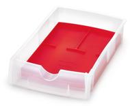 Bild von Smarty Arbeitskästen transparent, mit farbiger Silikoneinlage, 5 Stück